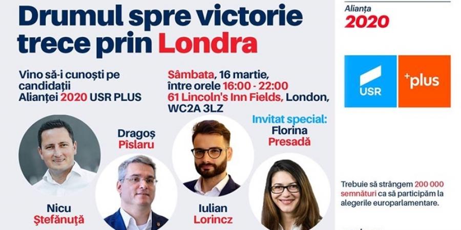 Alianța 2020 USR PLUS vine în diaspora. Candidații Alianței în dialog cu românii din Marea Britanie