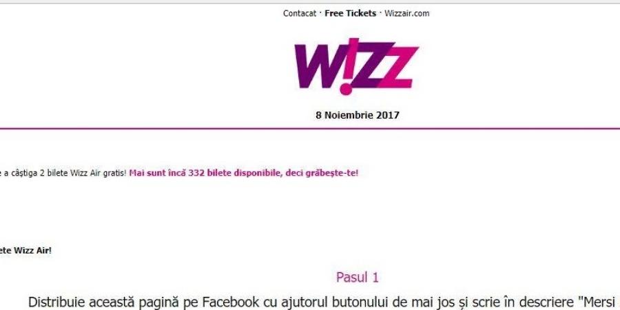 Mii de români s-au trezit cu conturile goale după ce au dat SHARE unui anunţ în numele companiei Wizzair