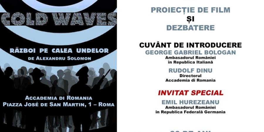 """Filmul românesc """"Război pe calea undelor"""" va fi proiectat la Roma, în contextul împlinirii a 30 de ani de la Revoluția din decembrie 1989"""