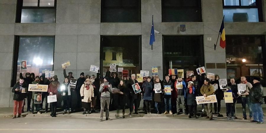 Grupul de protestatari de la Torino
