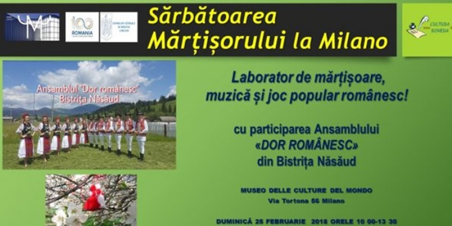 Românii, bulgarii, moldovenii şi macedonenii sărbătoresc împreună Mărțișorul la Milano