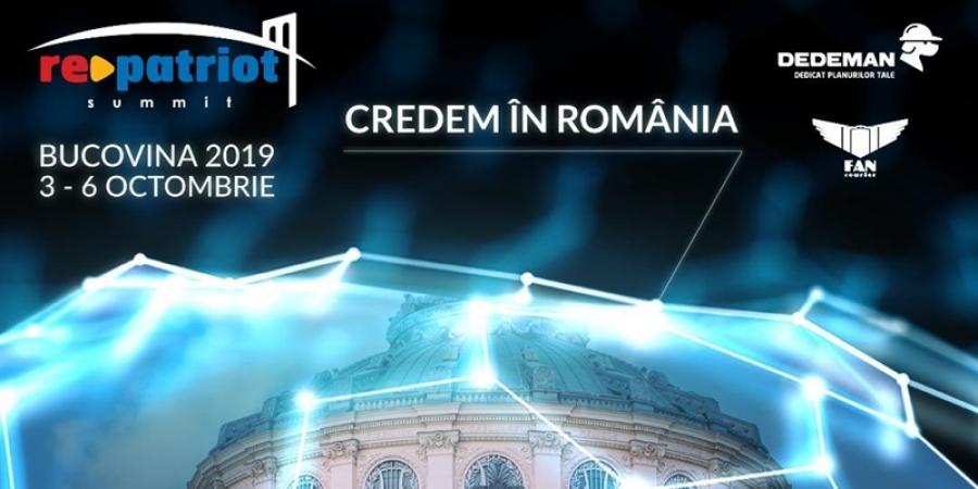 """200 de antreprenori români din diaspora și din țară vor participa la a patra ediție a Summitului RePatriot: """"Inima Diasporei bate în Bucovina"""""""